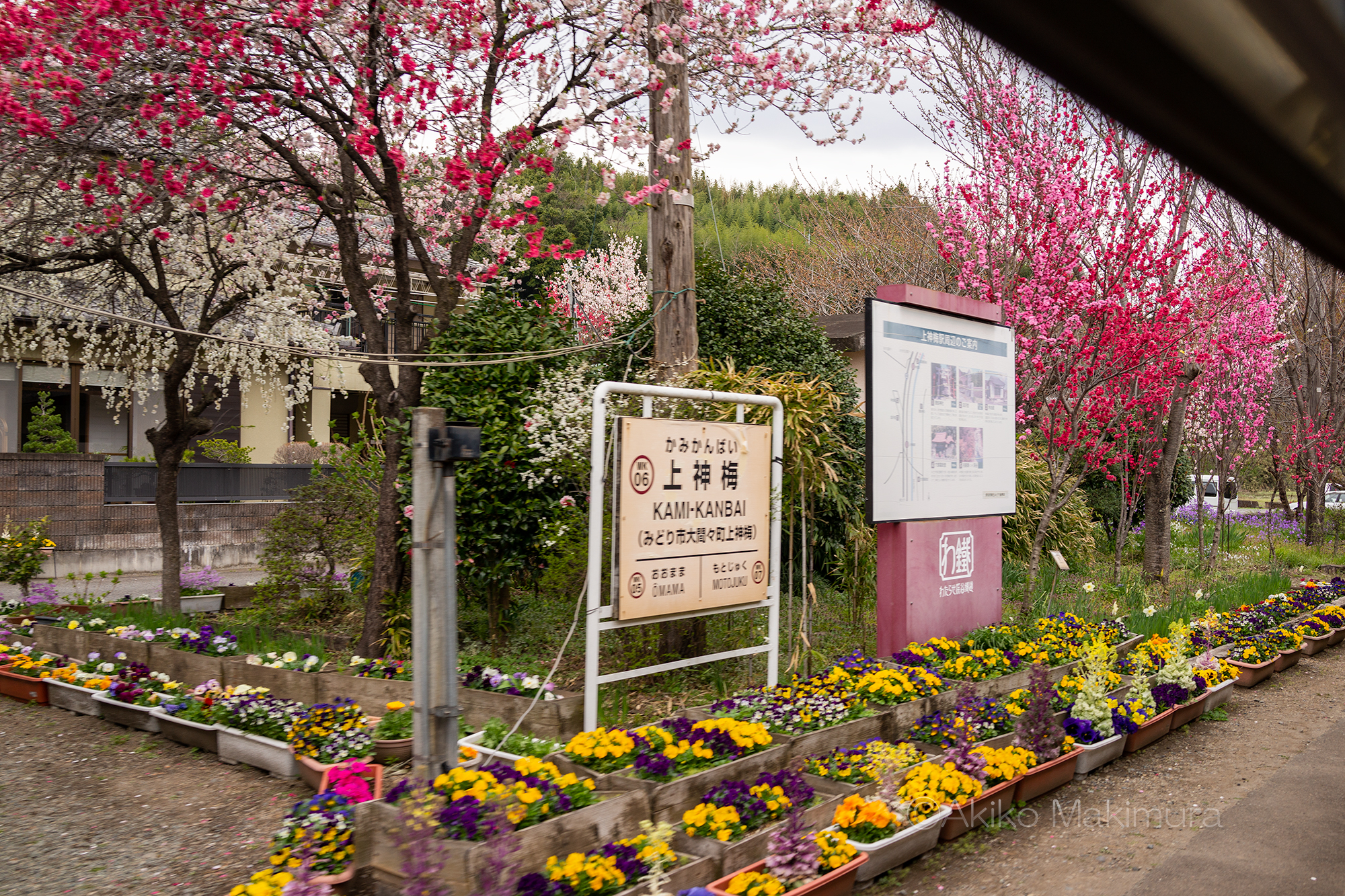 わたらせ渓谷鉄道の上神梅駅は無人駅です