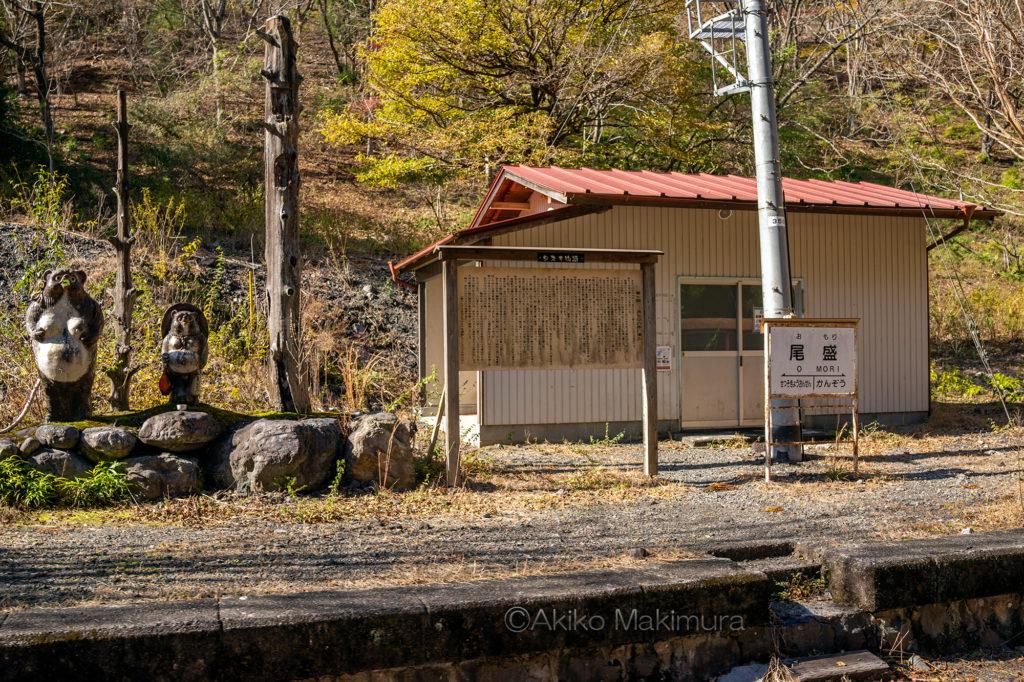 大井川鉄道井川線の尾盛駅は無人駅です