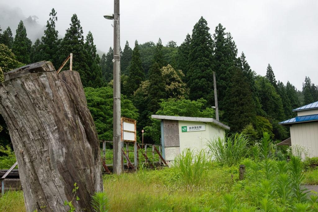 只見線の会津蒲生駅